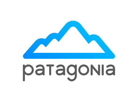 Patagonia logo emblem for tour decoration - Vector illustration of travel to Chile, Peru and Argentina.
