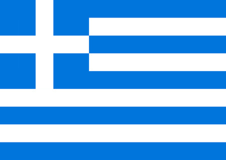 Vector National Flag of Greece - Colorful bright geometrically correct illustration.