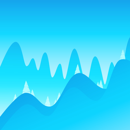Blue vector Landscape background of Mountains for decoration of Hiking and Climbing company.