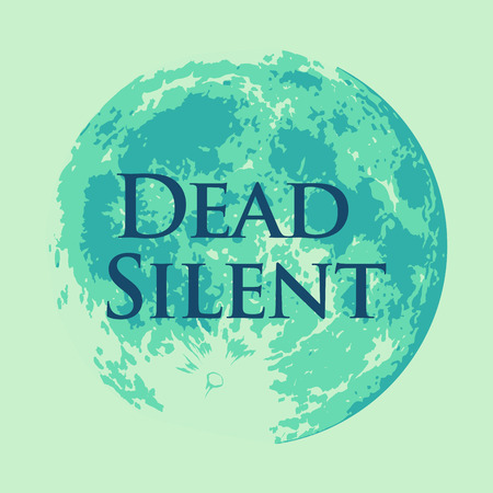 Dead Silent, Vector illustration of Full Moon in Creative Modern style Green Celadon color.