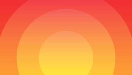 Sunset vector illustration, EPS10, Orange Background - Wonderful wallpaper for decoration of hot Actions, Ads and Travel offers to Southern countries Travel. Çizim