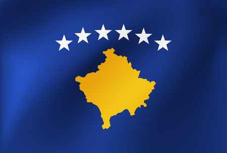 Vector national flag of Kosovo - Illustration for sports competition, traditional or state events.