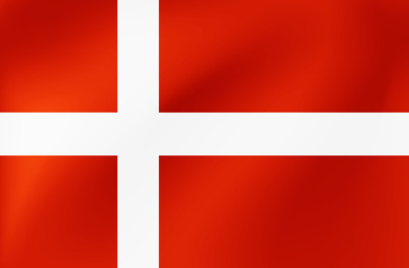 Vector national flag of Denmark - Illustration for sports competition, traditional or state events. Vettoriali