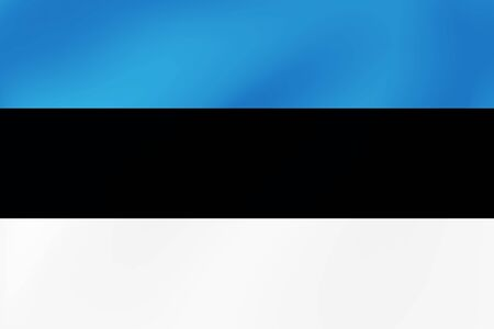National Flag of Estonia, Baltic, wavy texture. Vector illustration for decoretion of holidays, travel and other events.  イラスト・ベクター素材