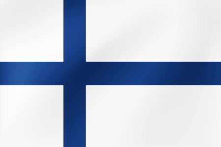 National Flag of Finland - Vector illustration for holidays and other events. Vettoriali