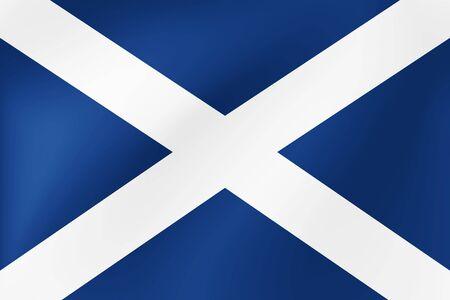 Bandera Nacional de Gales, diseño detallado. Ilustración de vector para vacaciones y otros eventos. Ilustración de vector
