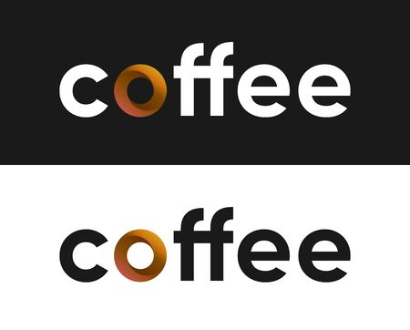 Coffee label vector, Lettering for Coffee Market Vettoriali