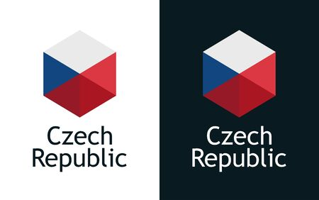 Czech Republic flag Иллюстрация