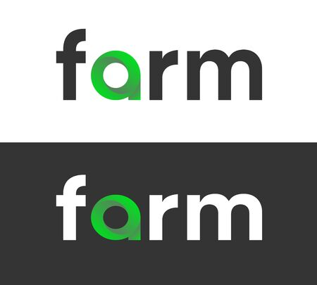 Farm label for Food or Eco Products in market Иллюстрация