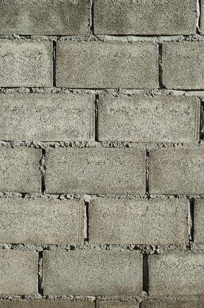 bloque de hormigon: Muro de hormig�n de bloques