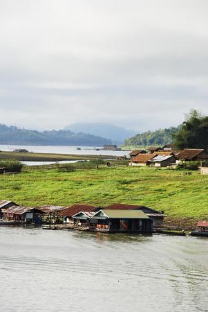 Mon rural life among nature at Sangkhla buri, Thailand photo