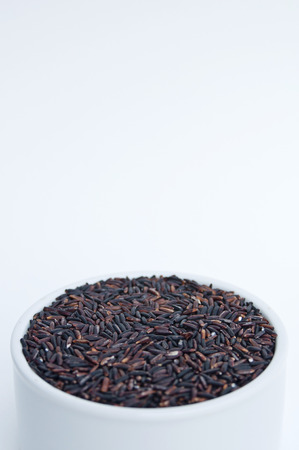Deep Purple rice, Homnil rice, Homnin rice, Fragrance black rice isolated photo
