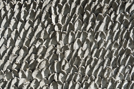 fish with scales: Cement wall striped fish scales.