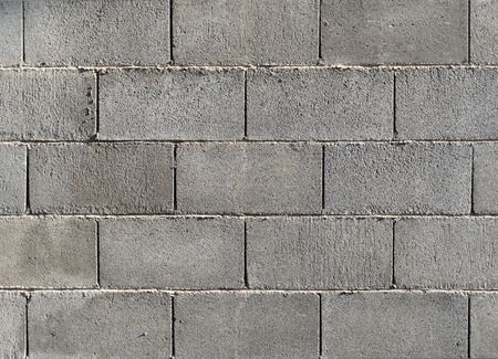 Concrete block wall background  texture. Banco de Imagens