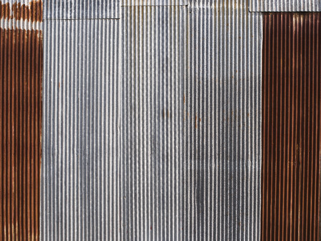 corrugated iron: Rusted, galvanized, corrugated iron siding, vintage background.