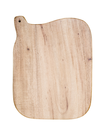 trencher: Wooden trencher chopping block isolated on white background.