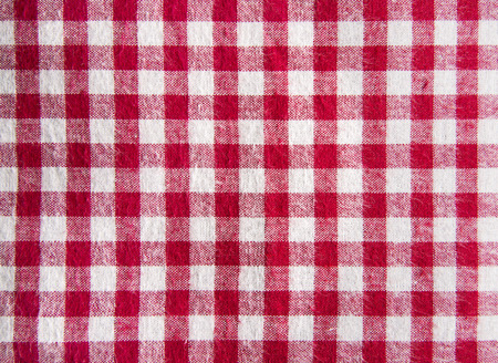 vignette: Red tablecloth background with vignette.