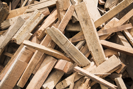 wood pile: A scrap wood pile.