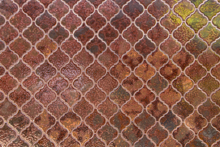tillable: Old wall tile background and texture. Stock Photo