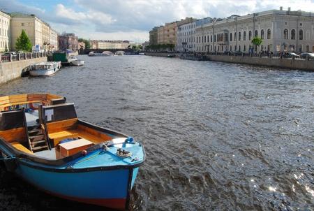 Boat on the river Neva