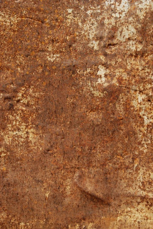 Rusty old brown metal texture with scratches