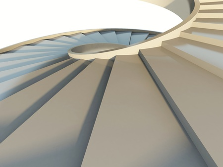 warm up: Fragment of abstract spiral staircase