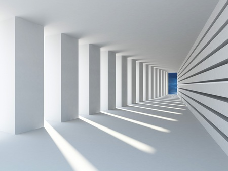 Abstract architecture with row od columns Standard-Bild