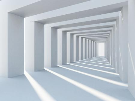 Abstracte architectuur met rij od kolommen