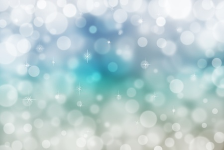 Abstract winter blue background with bokeh effect