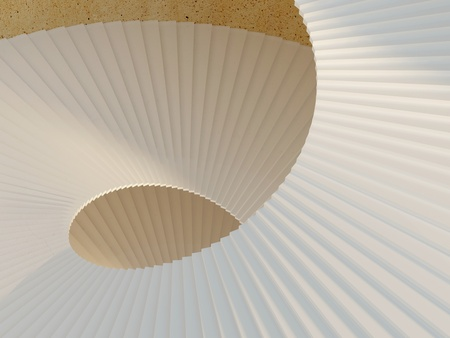 skylight: White spiral staircase inside of a tower. Way to success concept