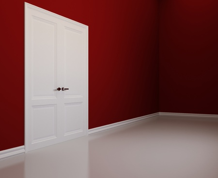 Blank interior with white doors Stock Photo - 12848056