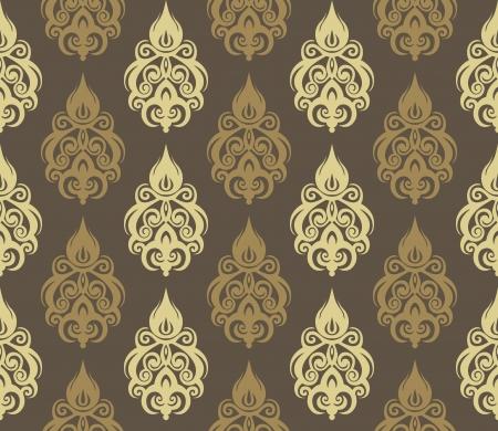 Vector illustration of seamless wallpaper ornament Vectores