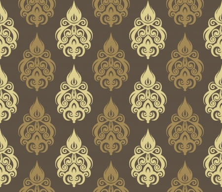 Vector illustration of seamless wallpaper ornament Иллюстрация