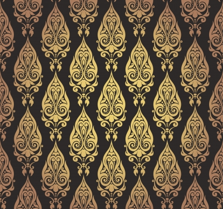 Vector illustration of seamless wallpaper ornament Stock Vector - 14505508