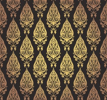 Vector illustration of seamless wallpaper ornament Иллюстрация