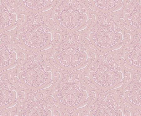 Vector illustration - pink damask wallpaper