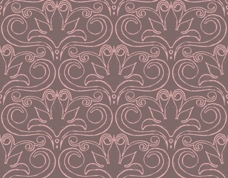 Vector abstract decorative pattern in pink and grey Stock Vector - 14505513