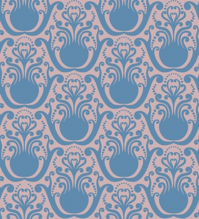 Simple vector pattern in blue and pink Vector