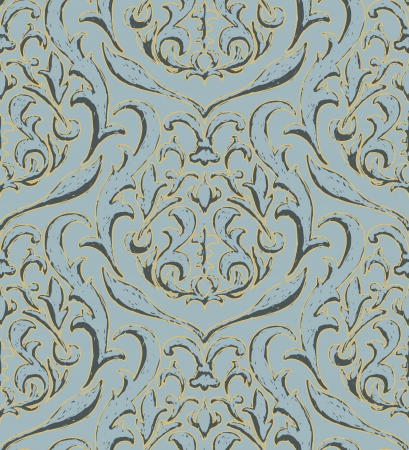 Rich vector wallpaper texture - blue and gold