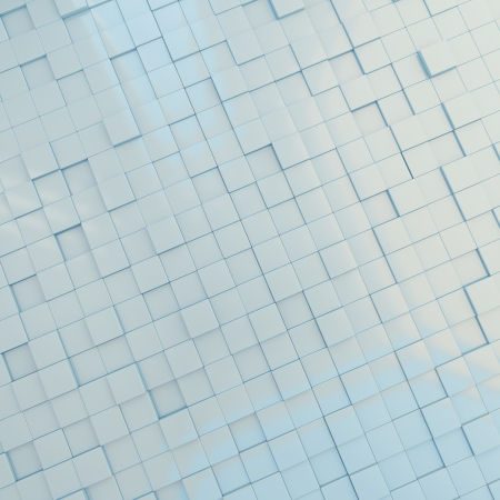 3d background light blue cubes of different height Stock Photo - 14748275