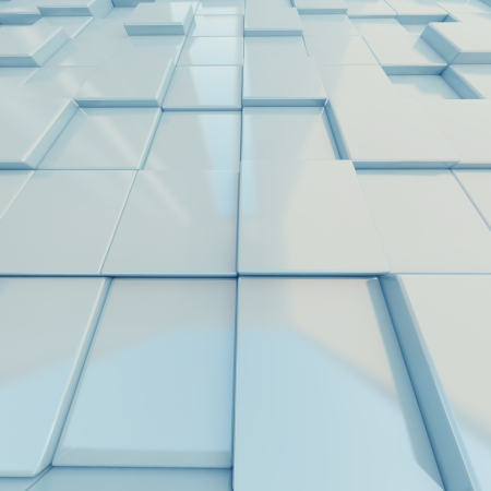 Abstract light blue surface with cubic relief. 3d-rendering Stock Photo - 14748258