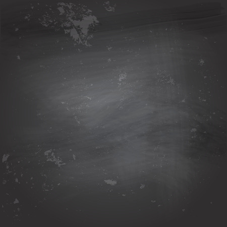 Vector illustration of an empty black chalkboard with traces
