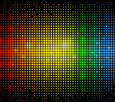 Colourful glowing dots technology background on black Illustration
