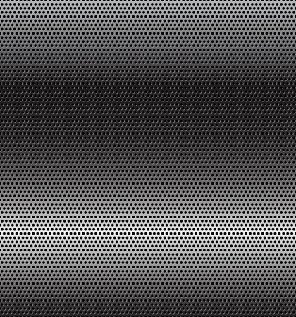 titanium: Perforated grey technology background with horizontal gradient Illustration