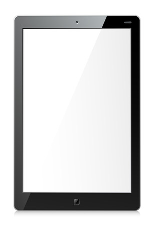 Vector illustration of black tablet with empty screen Illustration
