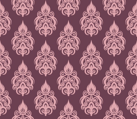 Abstract seamless decorative floral background in rich colors Illustration
