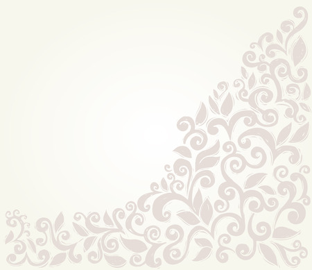 Scroll leaves border, sketchy style design element