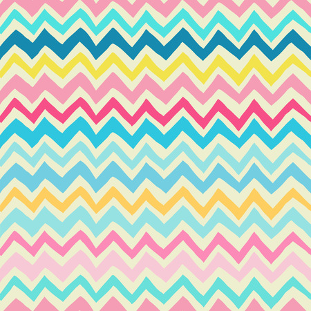 chevron background: Seamless vintage chevron background in rich colors Illustration