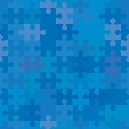 Naadloze achtergrond gemaakt van kleurrijke puzzelstukjes Stock Illustratie