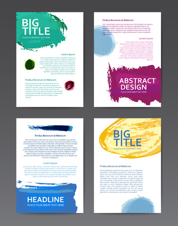 transparencies: Abstract design colourful templates with watercolor brushes and transparencies